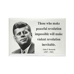 John F. Kennedy 16 Rectangle Magnet (10 pack)