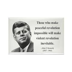 John F. Kennedy 16 Rectangle Magnet (100 pack)