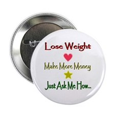 """Lines Lose Weight 2.25"""" Button"""