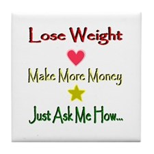 Lines Lose Weight Tile Coaster