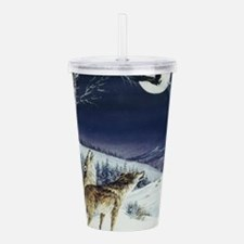 Wolves During Winter Acrylic Double-wall Tumbler