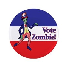 """Vote Zombie! 3.5"""" Button"""