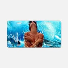 Sexy Mermaid In Water Aluminum License Plate