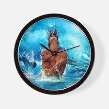 Sexy Mermaid In Water Wall Clock