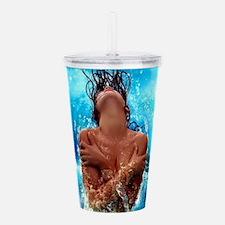 Sexy Mermaid In Water Acrylic Double-wall Tumbler