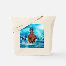 Sexy Mermaid In Water Tote Bag