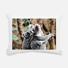 Koala Mum and Baby Rectangular Canvas Pillow