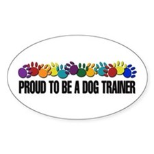 Proud To Be A Trainer Oval Decal
