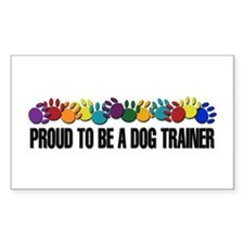 Proud To Be A Trainer Rectangle Decal