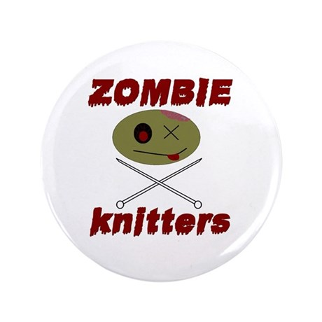"zombie knitter 3.5"" Button"