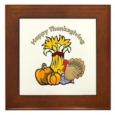 Happy Thanksgiving Pumpkins Framed Tile
