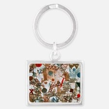 Funny Abstract art Landscape Keychain