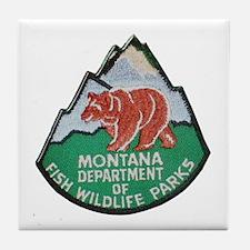 Montana Game Warden Tile Coaster