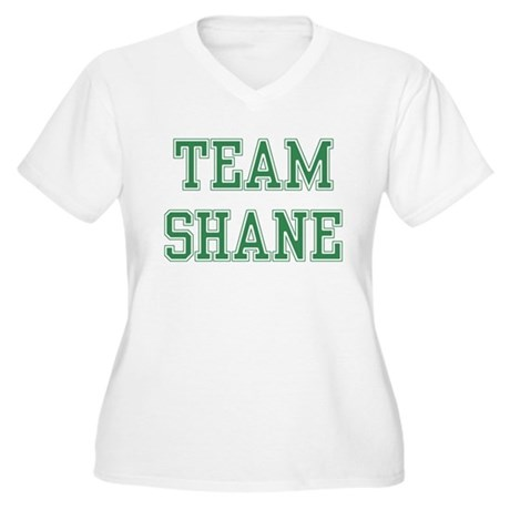 TEAM SHANE Women's Plus Size V-Neck T-Shirt