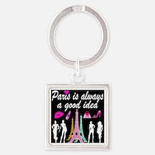 PARIS AMORE Square Keychain