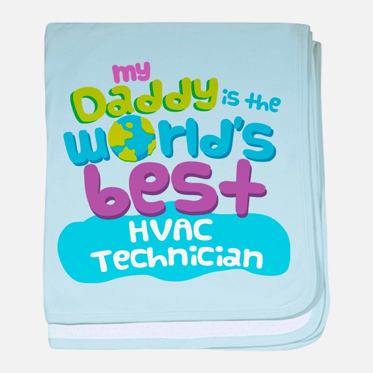 HVAC Technician Gifts for Kids baby blanket