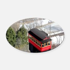 Pittsburgh Incline Oval Car Magnet