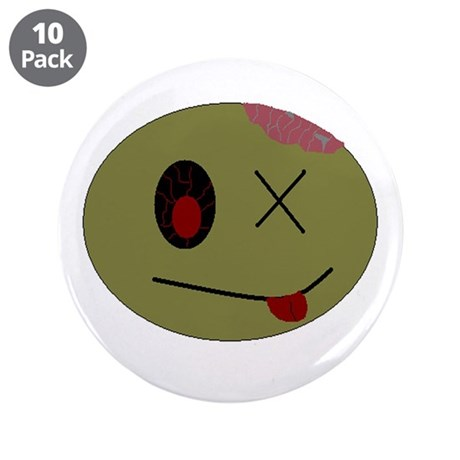 """zombie one 3.5"""" Button (10 pack)"""
