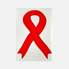 Red Ribbon Rectangle Magnet