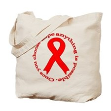 Red Hope Tote Bag