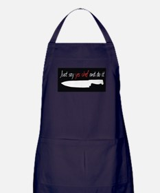 Just Say YES Chef Apron (dark)