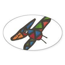 Simon's Flying Pteradactyl Oval Decal