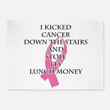 Breast Cancer Bully 5'x7'Area Rug