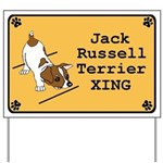 Jack Russell XING Yard Sign