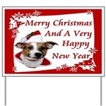 JRT Christmas Greeting Yard Sign