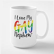 I Love My Gay Nephew Large Mug