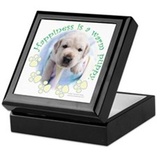 Happiness is a warm Puppy Keepsake Box