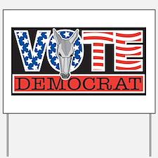 Vote Dem Donkey Yard Sign