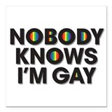 Gay pride month Square Car Magnets