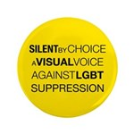 """Silent By Choice 3.5"""" Button (100 pack)"""