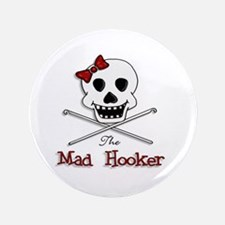"The Mad Hooker Logo 3.5"" Button"