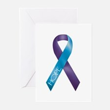 Purple/Teal Greeting Cards (Pk of 10)