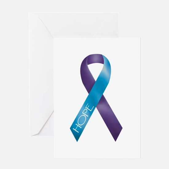 Purple/Teal Greeting Card