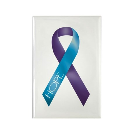 Purple/Teal Rectangle Magnet (100 pack)