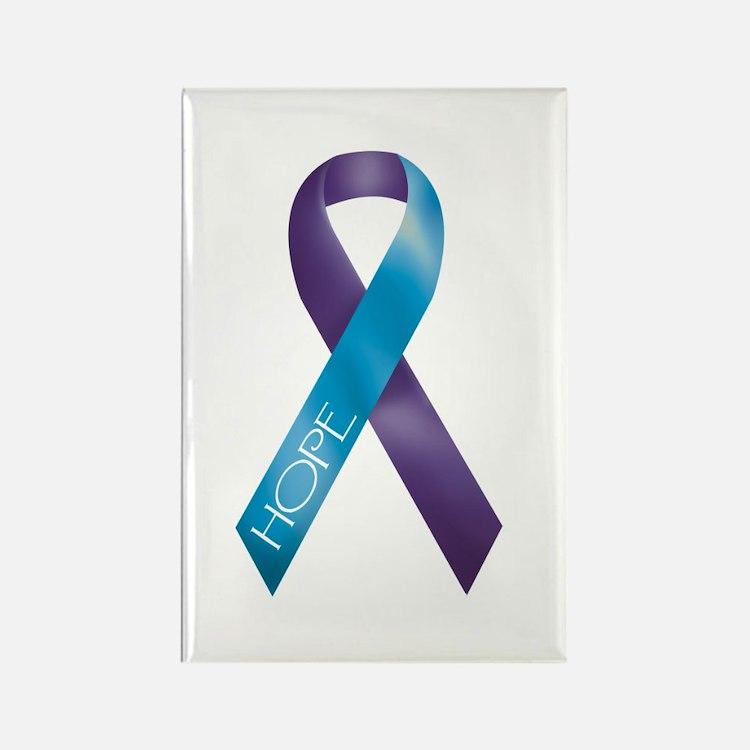 Purple/Teal Rectangle Magnet