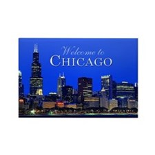 Chicago welcome souvenir magnet