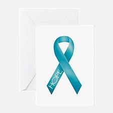 Teal Ribbon Greeting Card