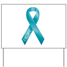 Teal Ribbon Yard Sign