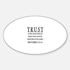 Trust the Lord Proverbs 3:5-6 Decal