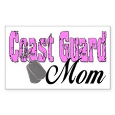 Coast Guard Mom Rectangle Decal
