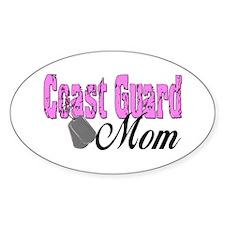 Coast Guard Mom Oval Decal