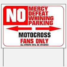 No Parking Motocross Yard Sign