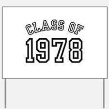 Class of 1978 Yard Sign