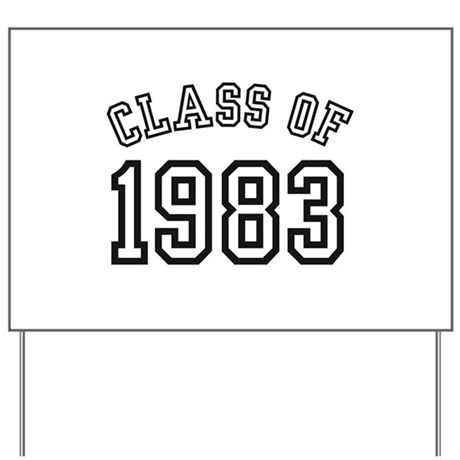 Class of 1983 Yard Sign