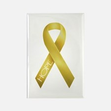 Gold Ribbon Rectangle Magnet