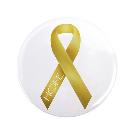"""Gold Ribbon 3.5"""" Button"""